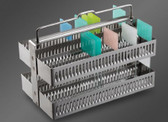 DuraGlax Slide Staining Rack, 60 places, stainless steel, each