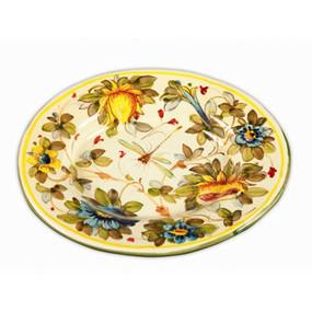 Fiori Large Round Platter Italian Ceramics