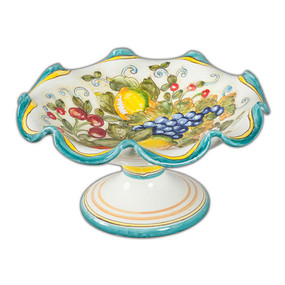 Footed Fruit Bowl - San Lorenzo - Italian Ceramics