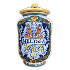Melissa (Balm) - Apothecary Jar - Sberna - Italian Ceramics