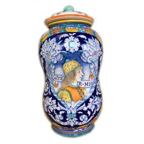 Renaissance Man - Apothecary Jar - Sberna - Italian Ceramics