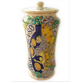 Lion - Apothecary Jar - Sberna - Italian Ceramics