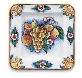 Bianco Fresco Square Dish Italian Ceramics