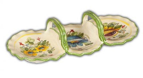 Fiori Three Part Dish