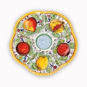 Frutta Mista Divided Dish Italian Ceramics