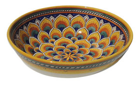 Geometrico Peacock Yellow Salad Bowl