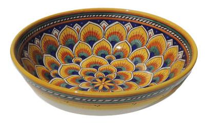 Geometrico Peacock Yellow Salad Bowl