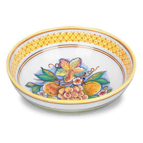 Bianco Fresco Salad Bowl - Italian Ceramics