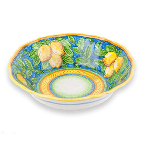 Limone Fluted Bowl - Italian Ceramics