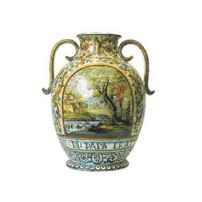 Orcio Ovoidale con Anse a Nastro - Aulica - Italian Ceramics