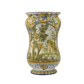 PortaombrelliI Albarello Paesaggio Stile Grue - Italian Ceramics