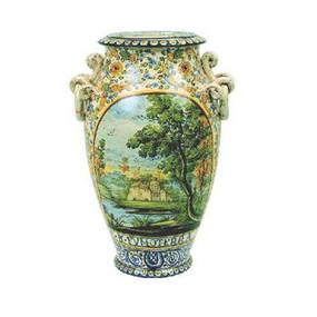 Vaso Torciglioni - Paessagio Stile Grue - Italian Ceramics