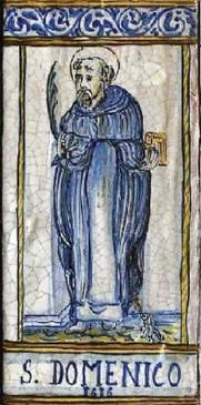 St. Dominic Tile - San Domenico Italian Ceramic Tile. Hand painted Italian tile from Castelli, Italy.