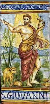 St. John Tile - SAN GIOVANNI Italian Ceramic Tile. Hand painted Italian tile from Castelli, Italy.