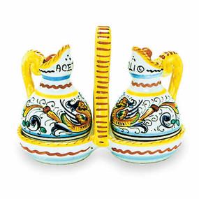 Raffaellesco Oil & Vinegar Set - Italian Ceramics
