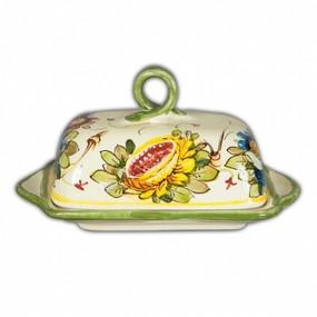 Butter Dish - Toscana Fiori - Italian Ceramics