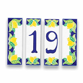 House Numbers Tiles - Lemons - Italian Ceramics