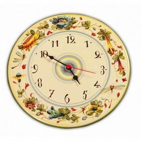 Italian Ceramic Wall Clock Toscana Fiori