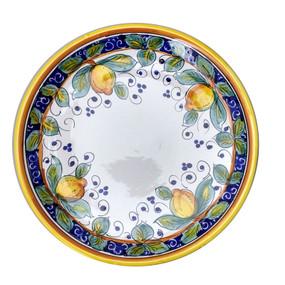Alcantara Round Platter Italian ceramics