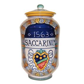 Saccarinum - Pharmaceutical Jar - - Italian Ceramics