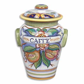 Coffee Canister - Bianco Fresco - Italian Ceramics
