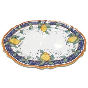 Alcantara Oval Platter Italian Ceramics