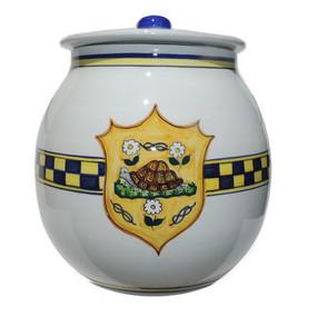 Biscotti Jar - Palio di Siena - Italian Ceramics - Fratelli Mari