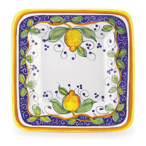 Alcantara Square Platter Italian Ceramics