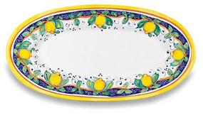 Alcantara Large Oval Platter Italian Ceramics