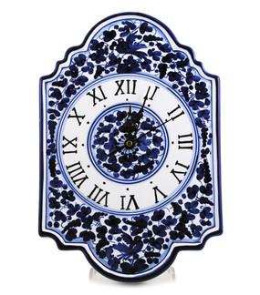 Wall Clock - Arabesco Blue - Fratelli Mari - Italian Ceramics