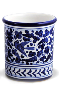 Utensil Holder - Arabesco Blue - Fratelli Mari