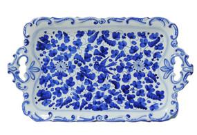 Baroque Tray - Arabesco Blue - Fratelli Mari - Italian Ceramics
