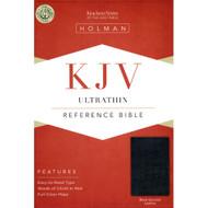 KJV Ultrathin Reference Bible, Black Genuine Leather