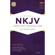 Bible NKJV Large Print Personal Size Reference