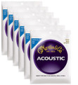 Martin M150 medium bronze wound acoustic guitar string set ( 6 set deal )
