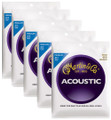 Martin M150 medium bronze wound acoustic guitar string set ( 5 set deal )