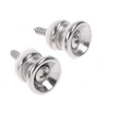 Guitar Strap End Button set of 2 Chrome Finish