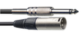 6 Metre Standard Audio Cable - Mono 6.3mm Jack Plug To Male XLR Connector