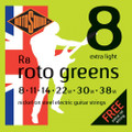 Rotosound R8 Roto Green Extra Light Electric Guitar Strings