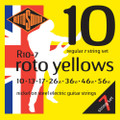 Rotosound R10-7 Roto Yellow Nickel Electric Guitar Strings 10-56 7-String Regular