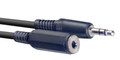Stereo 3.5mm Mini Jack Plug To Stereo 3.5mm Female Mini Jack Plug 3 M