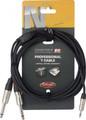 "Audio cable 3M /10"" SPLIT mini standard jack to 2 X 6.3mm jack"