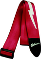 Gibson guitar strap lightbolt red