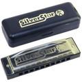 Hohner Silver star 10 hole diatonic harmonica Key F