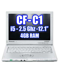 Panasonic Toughbook CF-C1 i5 2.5Ghz Webcam, Touch, and Digitizer**REFURBISHED**
