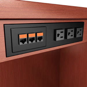 Power Data Outlets Customized Telecom Network Video Data - Conference table power and data modules