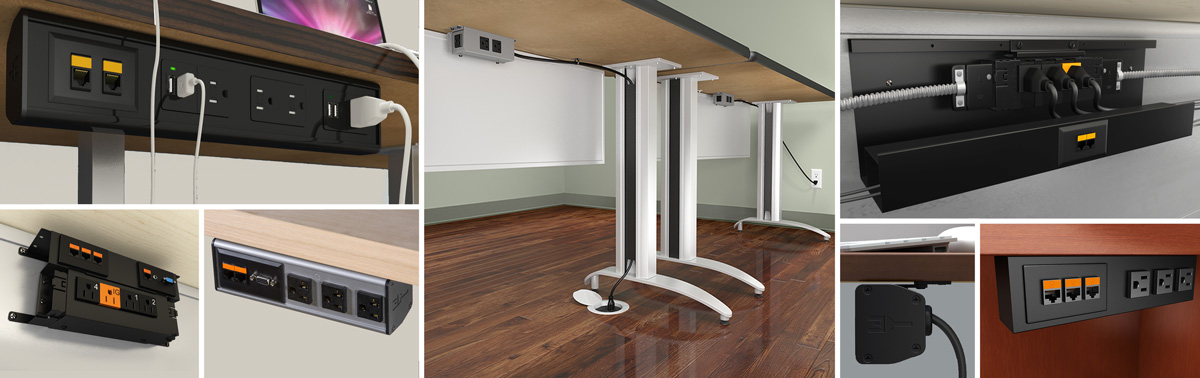 Under Table Desktop Power Data Outlets Free Shipping