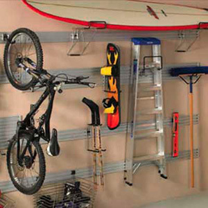 Garage storage stack or suspend bulky sporting goods and for Omni garage door