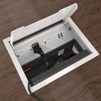 Seclusion Hide It Kit for Recessed Desktop Installation (HIDEIT-S-B-K) Open