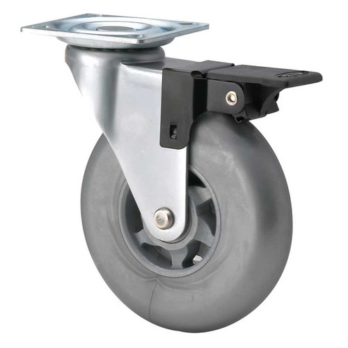 Grey Caster with Brake
